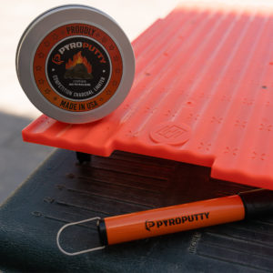 The backyard bundle is a perfect gift idea and includes a rechargeable arc lighter, cooler tray, and charcoal fire starter